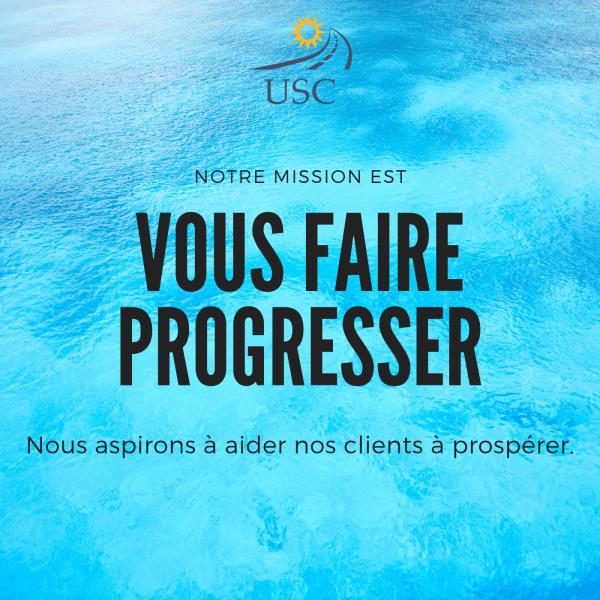 Mission de USCSYNERGY: aider ses clients à progresser et prospérer